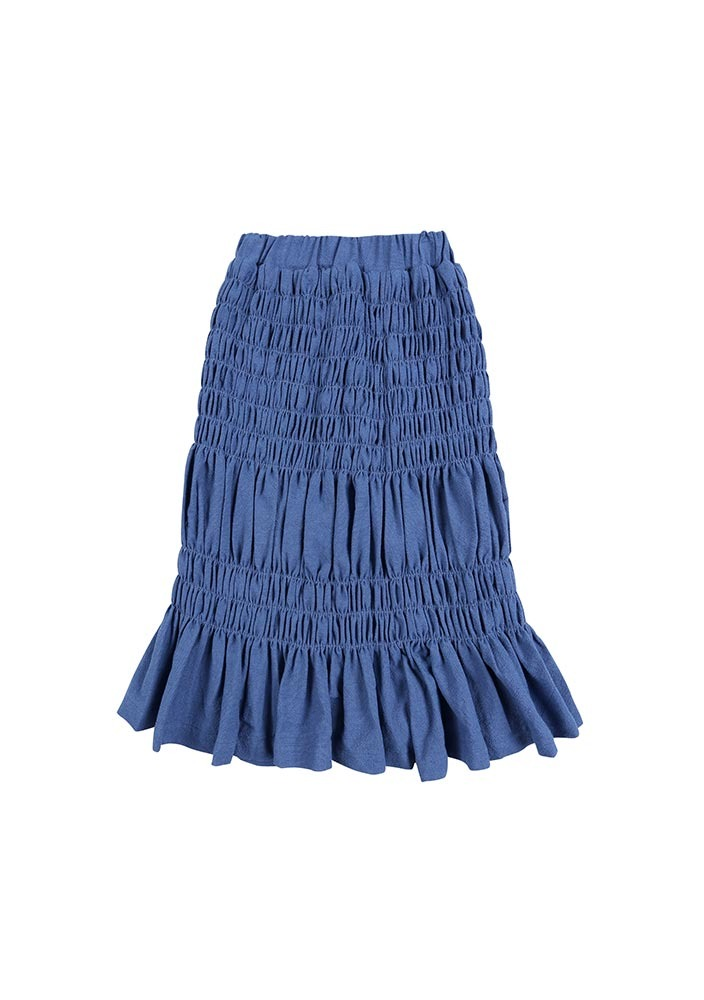 BONBON Shirring Skirt_blue_Kids