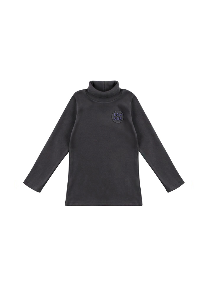 BONBON Turtleneck_T_Shirt_Kids_Charcoal