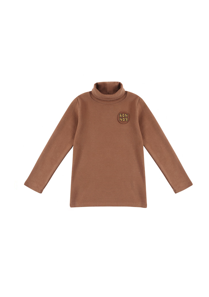 BONBON Turtleneck_T_Shirt_Kids_Brown