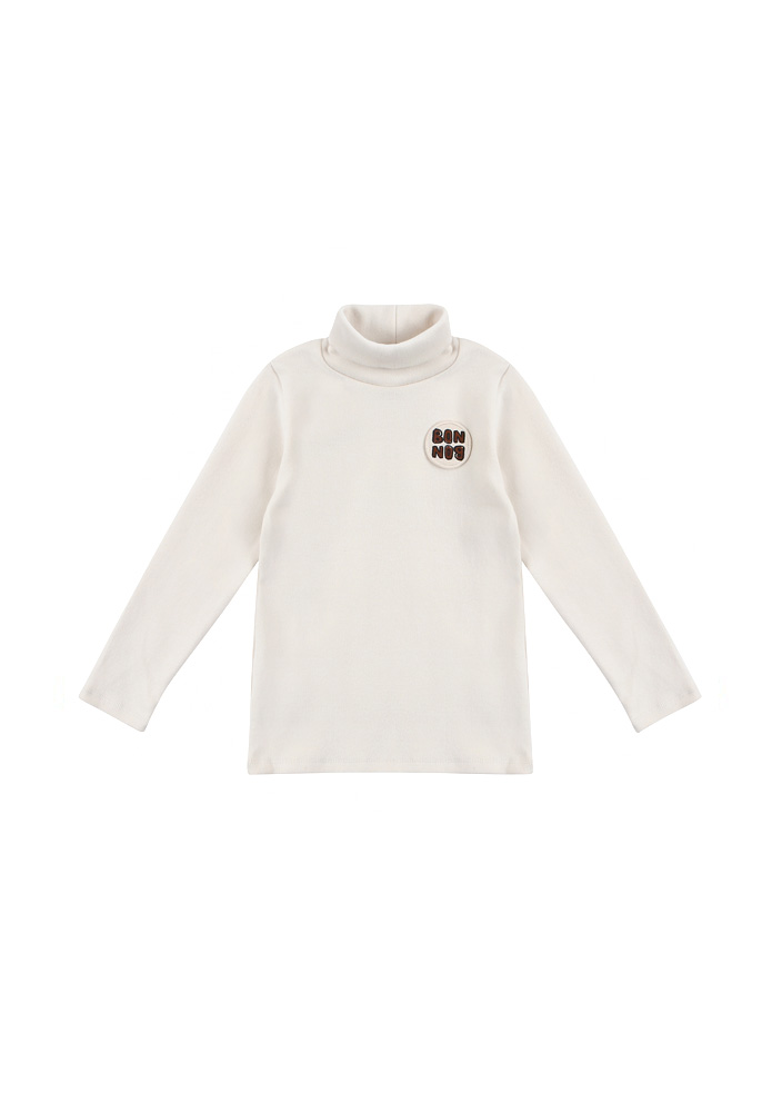 BONBON Turtleneck_T_Shirt_Kids_Ivory