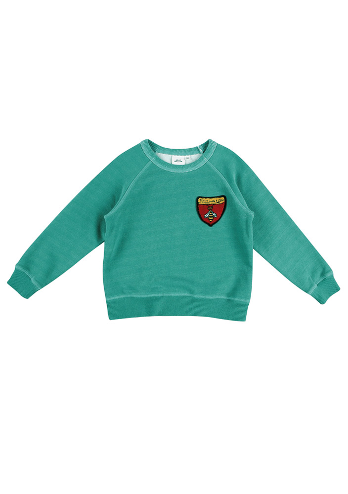 Honeybee Raglan Sweatshirt_Kids_Green