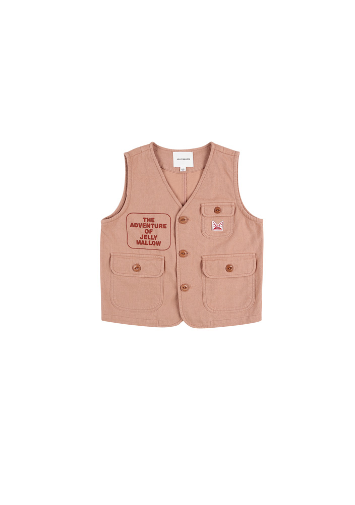Adventure Safari Cotton Vest_Kids_Peach