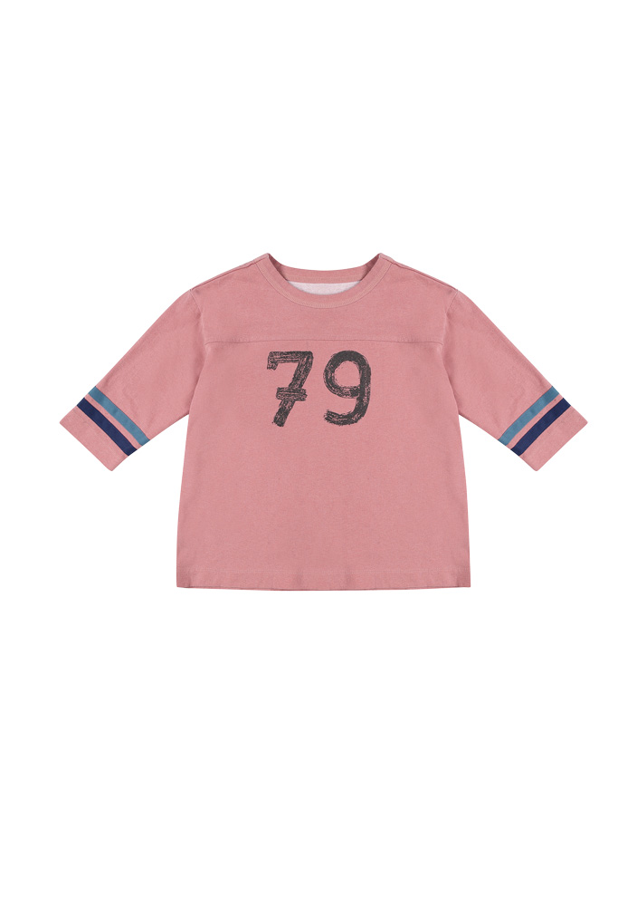 Football 3/4 Sleeve T-Shirt_Kids_Pink