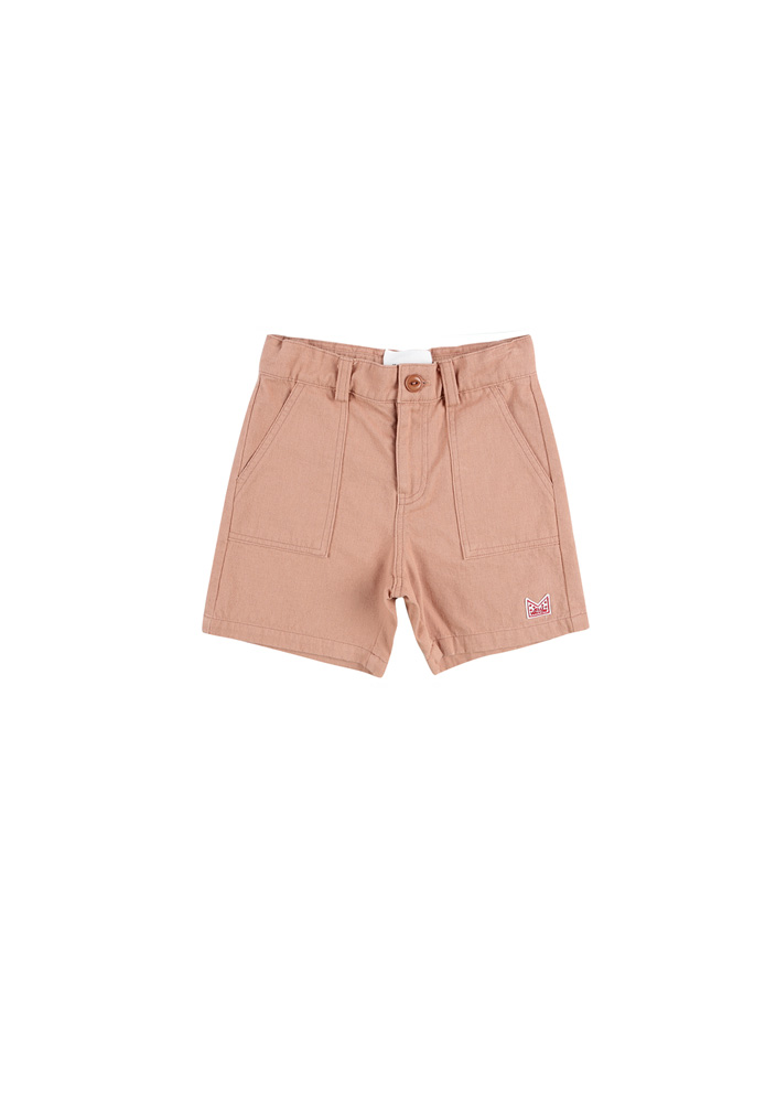 Adventure Safari Cotton Shorts_Kids_Peach