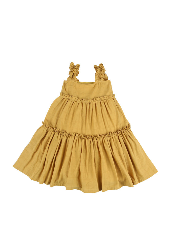 Gracia Frill Dress_Kids_Mustard