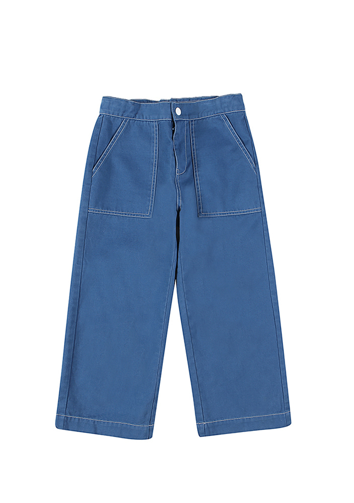 CARPENTER COTTON PANTS_BLUE