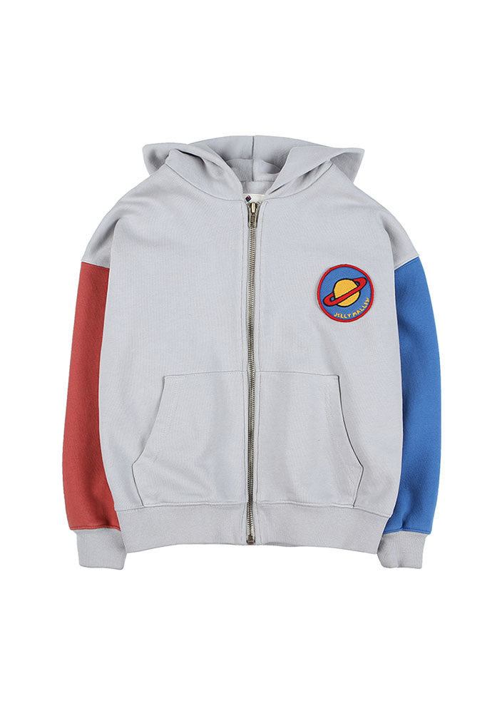 ★SATURN PATCH ZIP-UP HOODIE