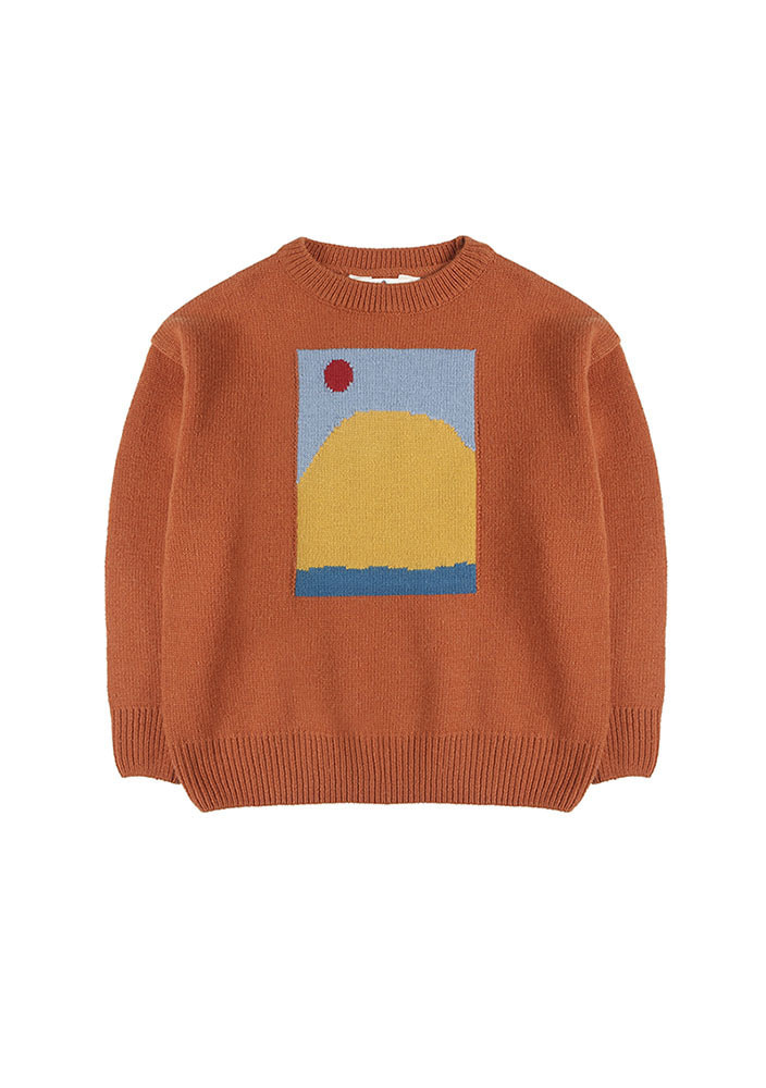 SUNRISE INTARSIA WOOL SWEATER