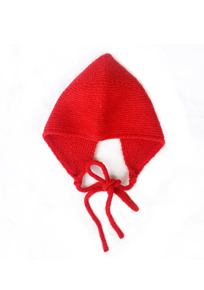 KNITTED HAT_Red