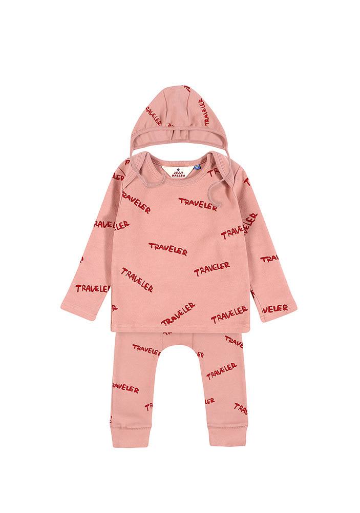 CREW NECK TRAVELER SET_Baby_Pink