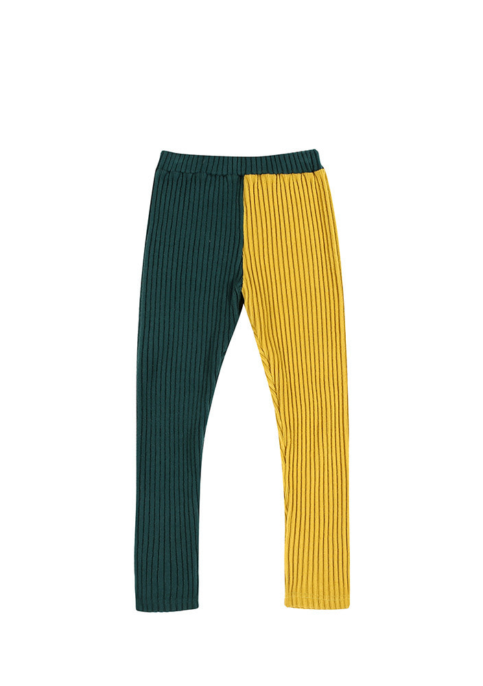 CORDUROY LEGGINGS_Baby_Green & Yellow
