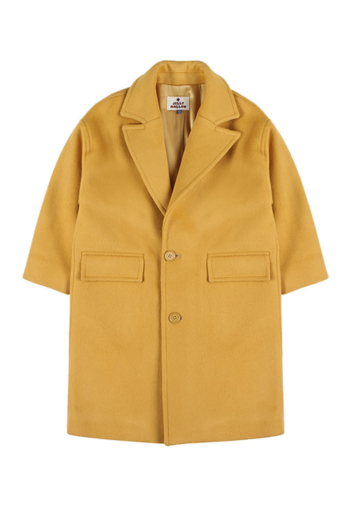 OVERSIZED SINGLE COAT_Mustard