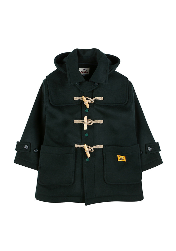 OVERSIZED DUFFLE COAT_Hunter Green