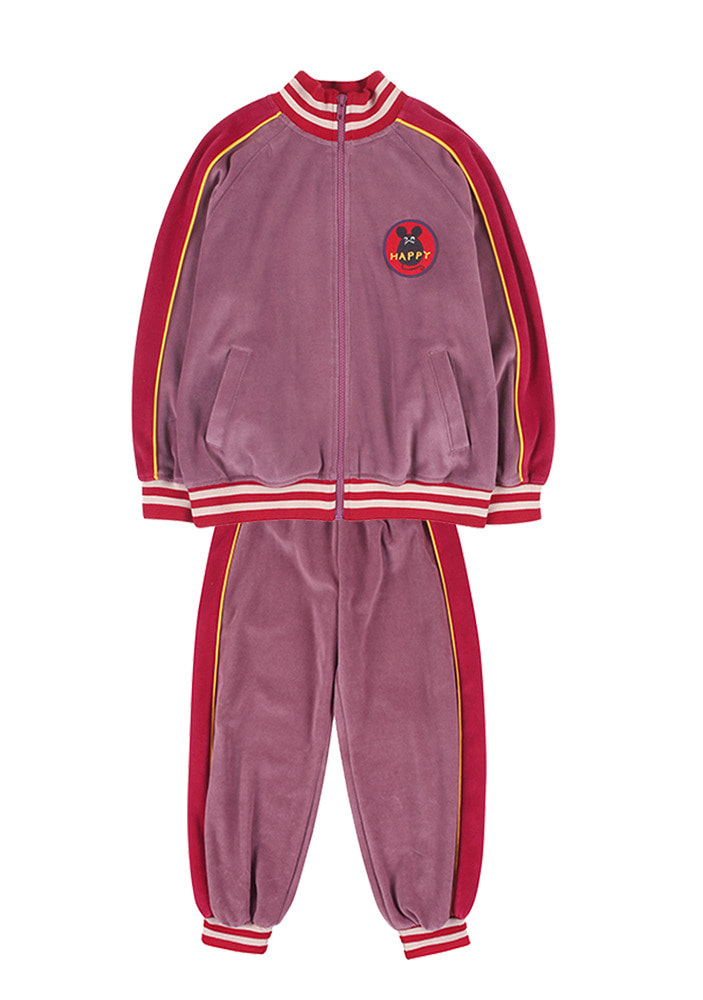 VELOUR COTTON ZIP-UP SET