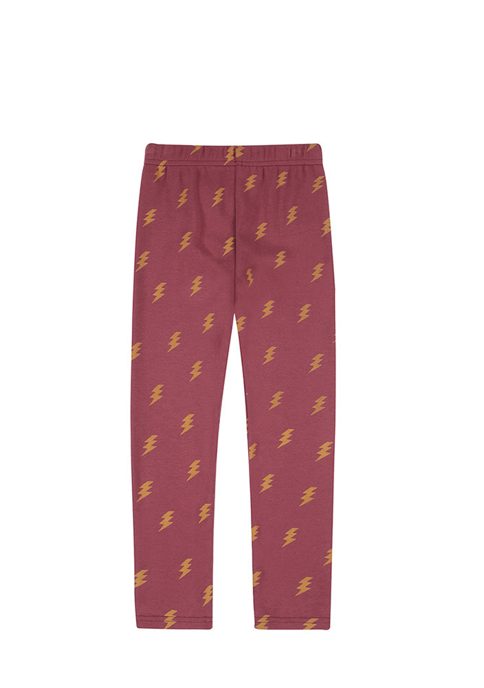 LIGHTNING LEGGINGS_Burgundy_Kids
