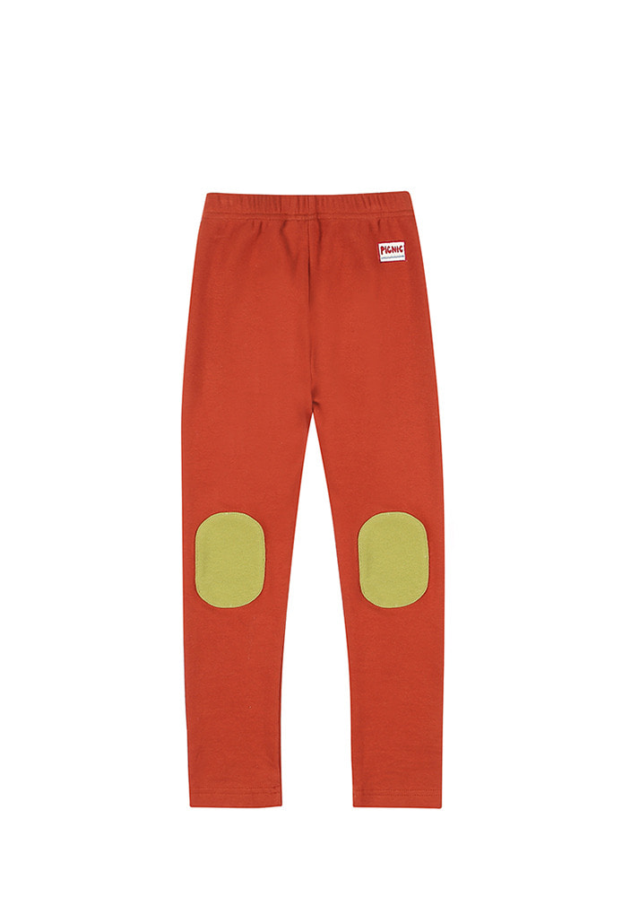 PICNIC PATCH LEGGINGS_Red_Kids