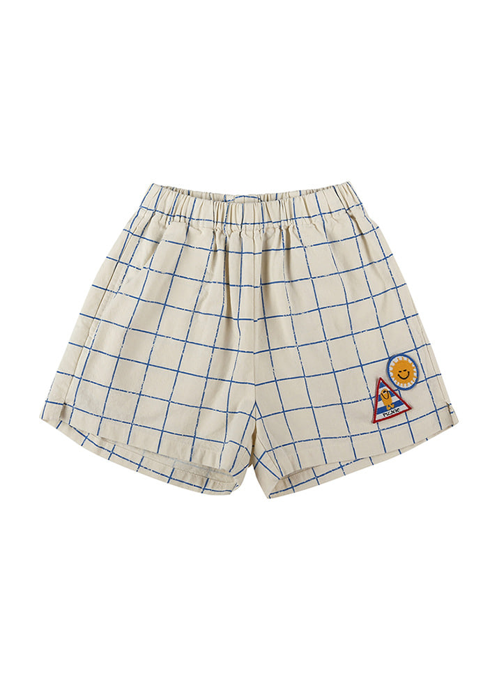 GRID CHECKED TRACK SHORTS_Baby