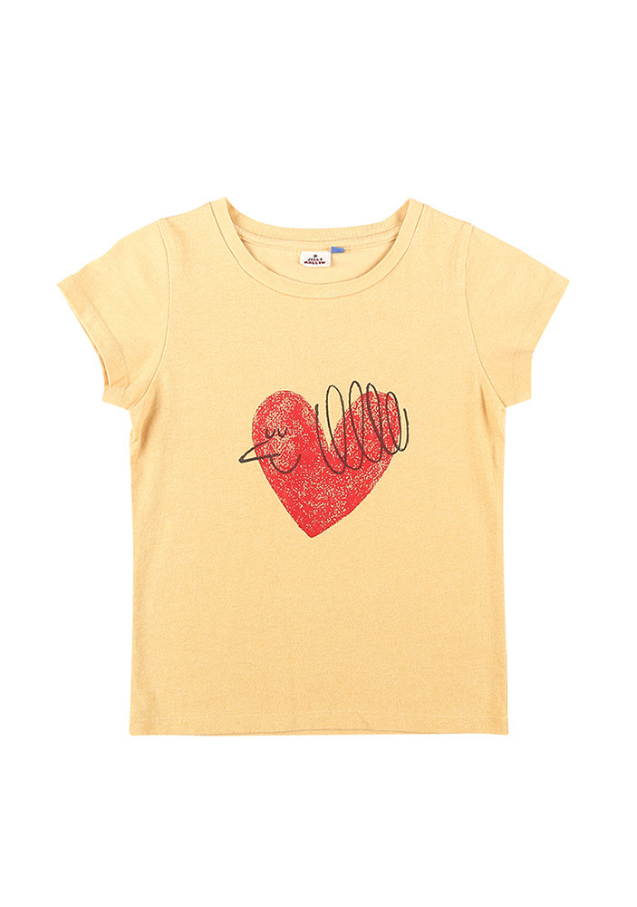 HEART BIRD SHORT SLEEVE T-SHIRT_Baby