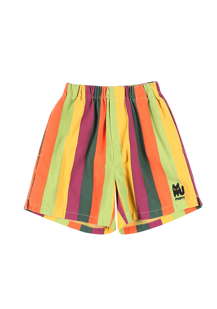 RAINBOW STRIPE SHORTS_Kids