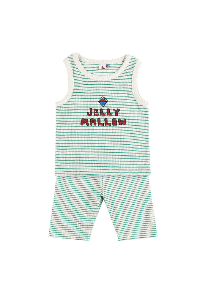 JELLYMALLOW STRIPE SET_Green_Kids