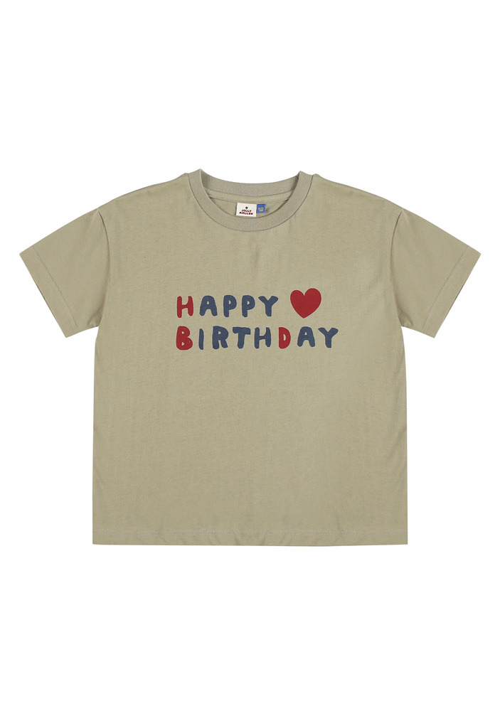 HBD SHORT SLEEVE T-SHIRT_Khaki_Baby