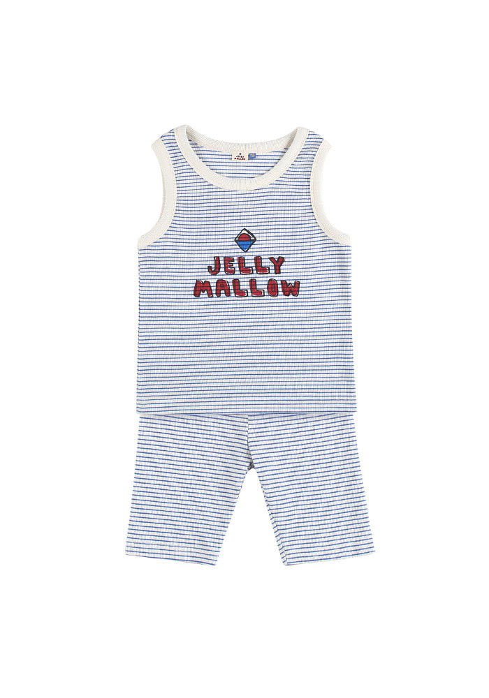 JELLYMALLOW STRIPE SET_Blue_Kids