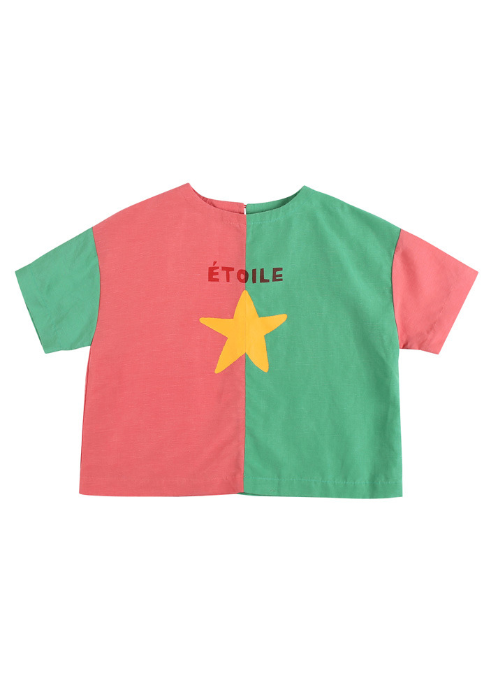 TWO TONE BLOUSE_Pink&Green_Baby#2