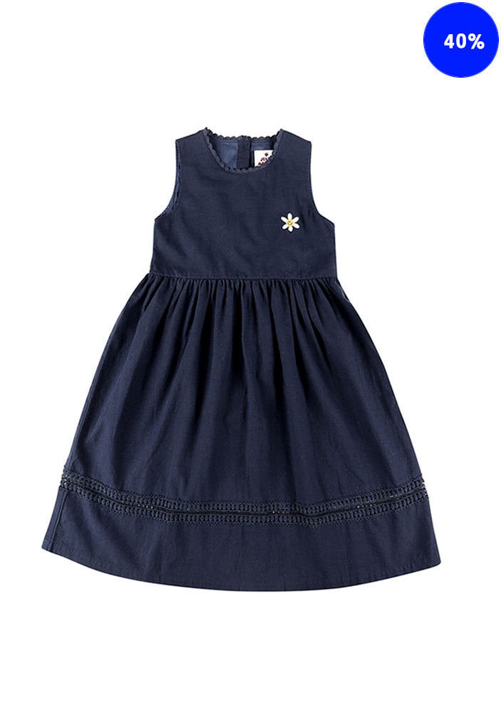 SMILE FLOWER DRESS_Baby_Navy