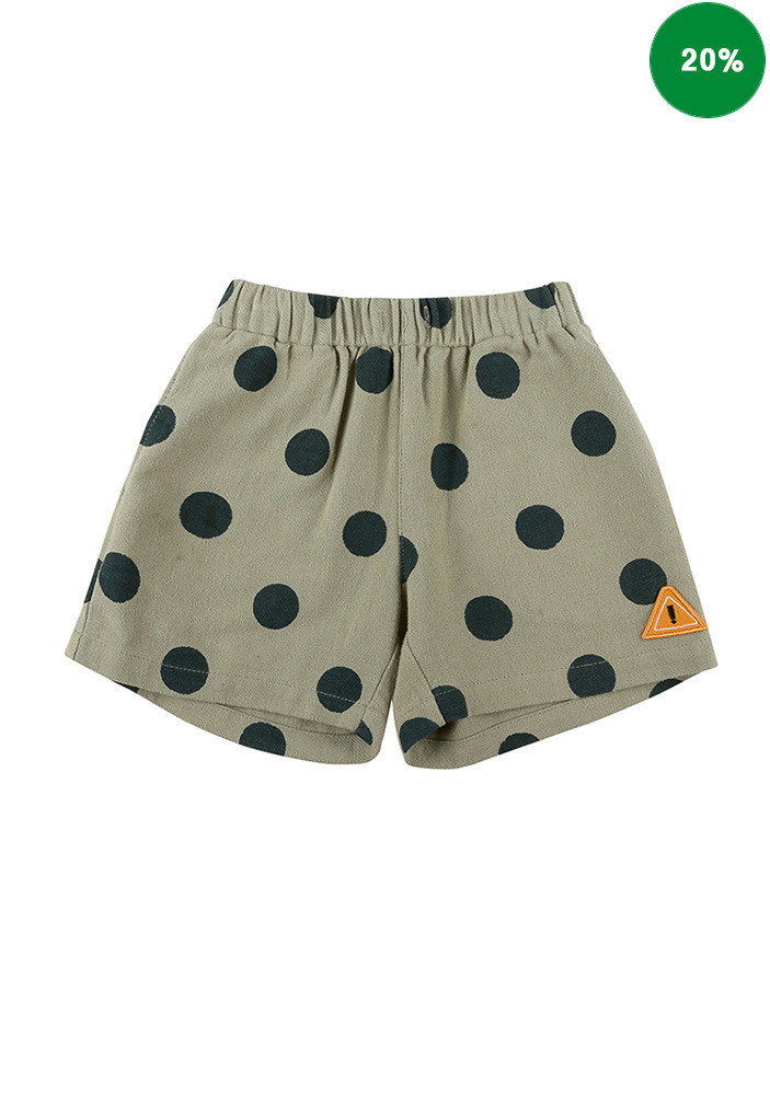 DOTTED GABARDINE COTTON SHORTS_Baby