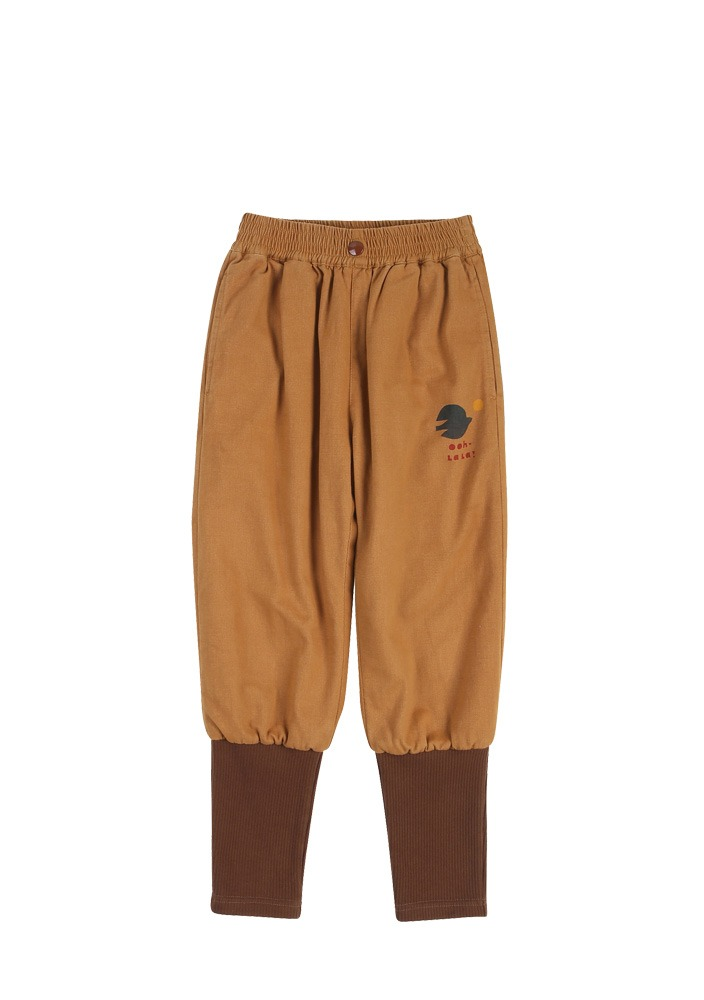 COTTON NAPPING  JOGGER PANTS_Beige_Kids