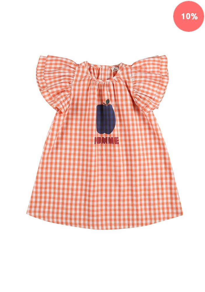 POMME FRILL DRESS_Orange_Baby