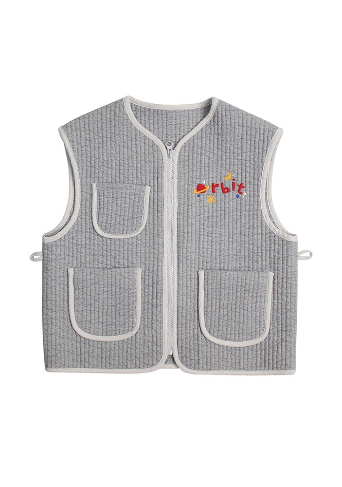 PETIT JELLY QUILT VEST_Light Grey_Baby