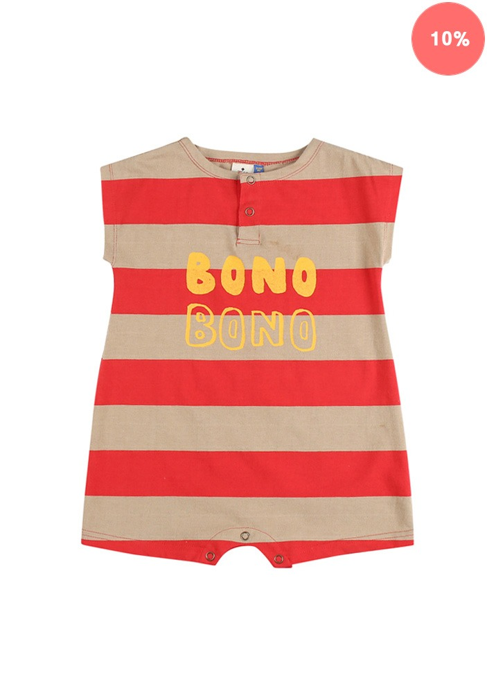 BONO STRIPE COTTON BODY_Red&Beige