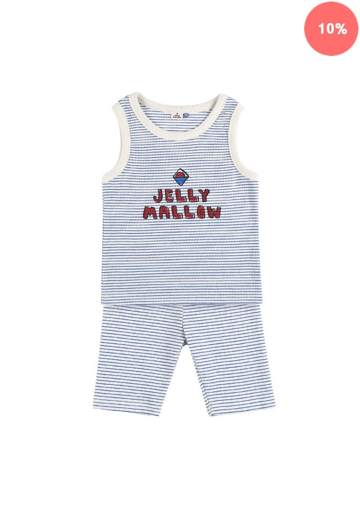 JELLYMALLOW STRIPE SET_Blue_Baby