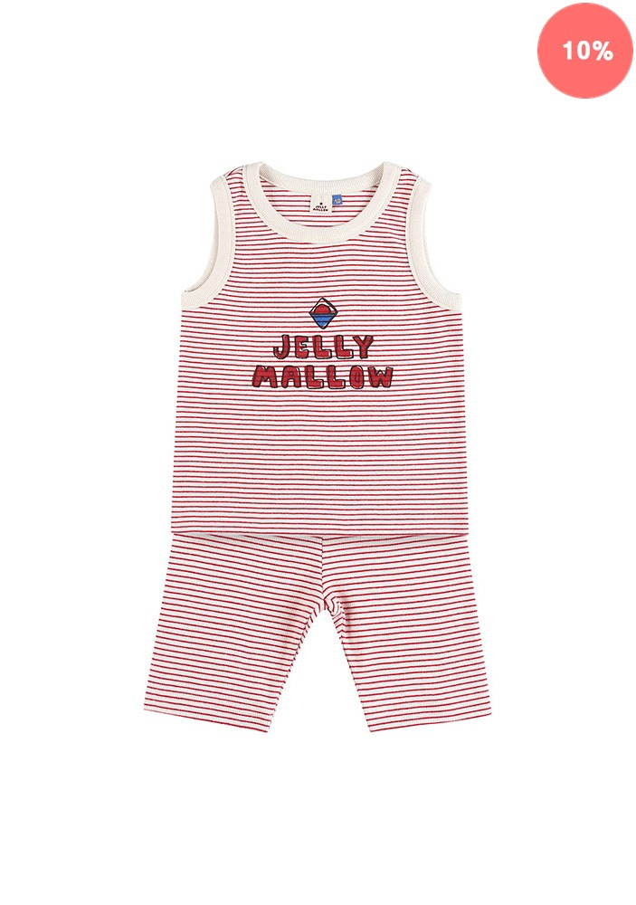 JELLYMALLOW STRIPE SET_Red_Kids