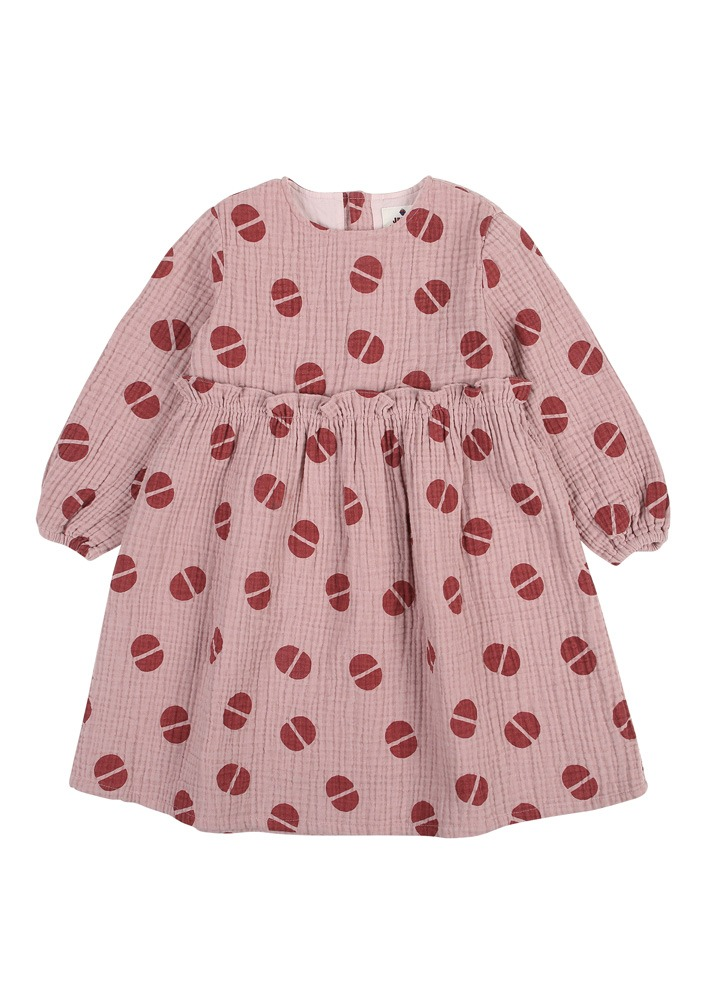 BEAN FRILL DRESS_Pink_Kids
