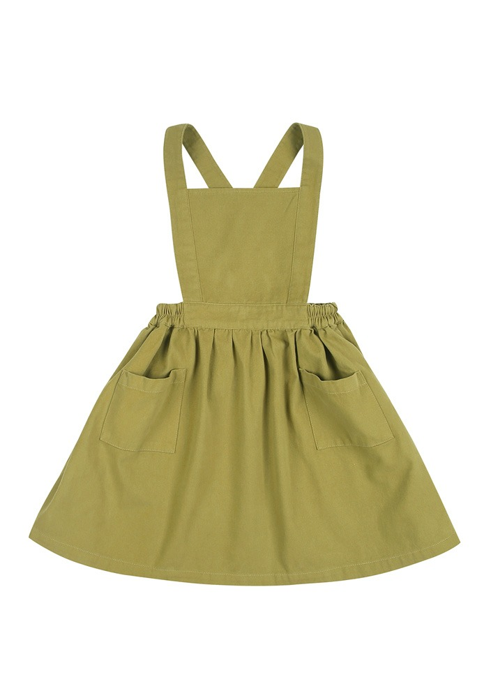 JM APRON DRESS_Green_Baby