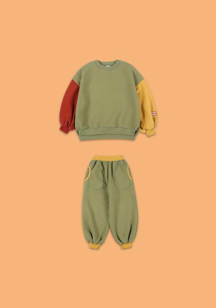 BALLOON SWEATSHIRT SET _ GREEN #2