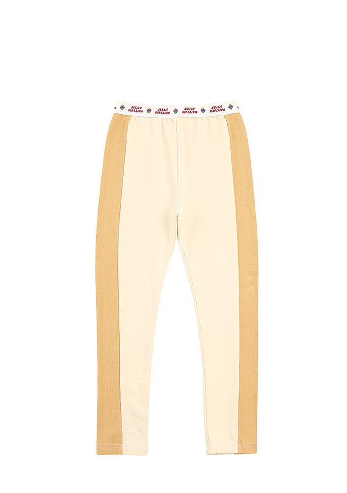 JELLYMALLOW TWO TONE LEGGINGS_Ivory & Yellow_Kids
