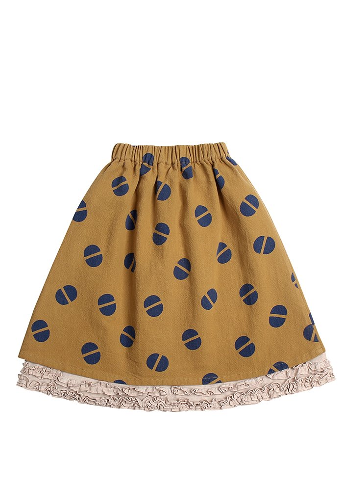 COTTON FRILL SKIRT_Beige_Kids