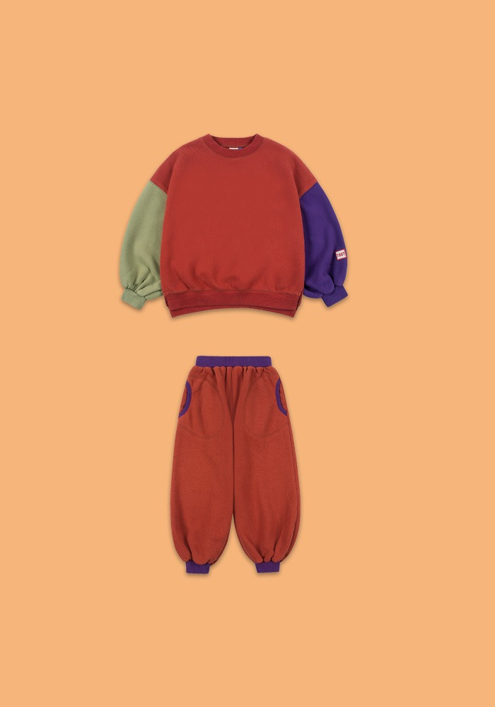 BALLOON SWEATSHIRT SET _ BRICK