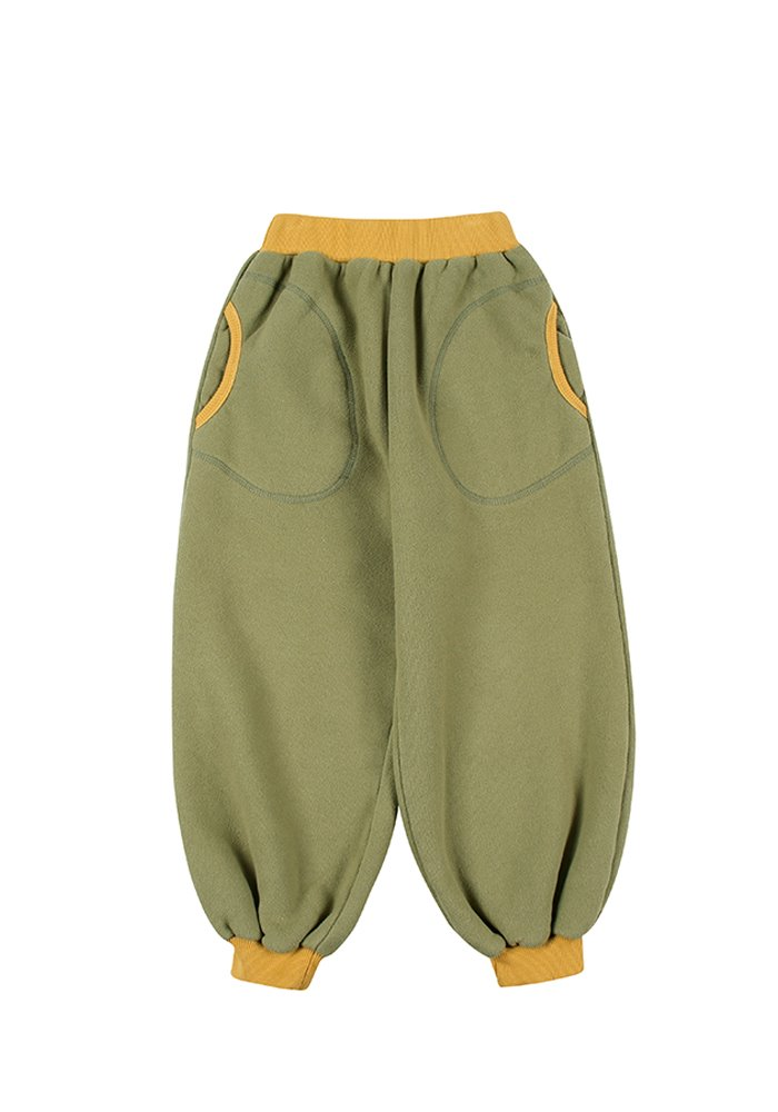 BALLOON LOUNGE PANTS_Green_Kids