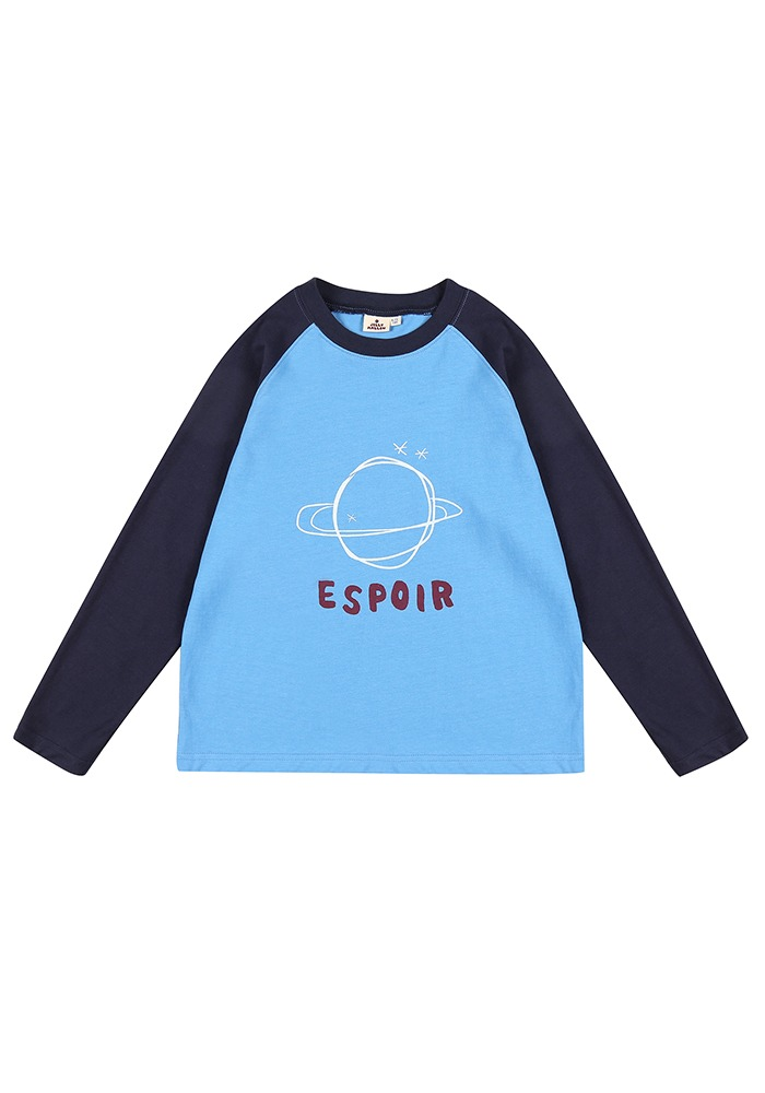 RAGLAN SLEEVE T-SHIRT_Blue_Baby