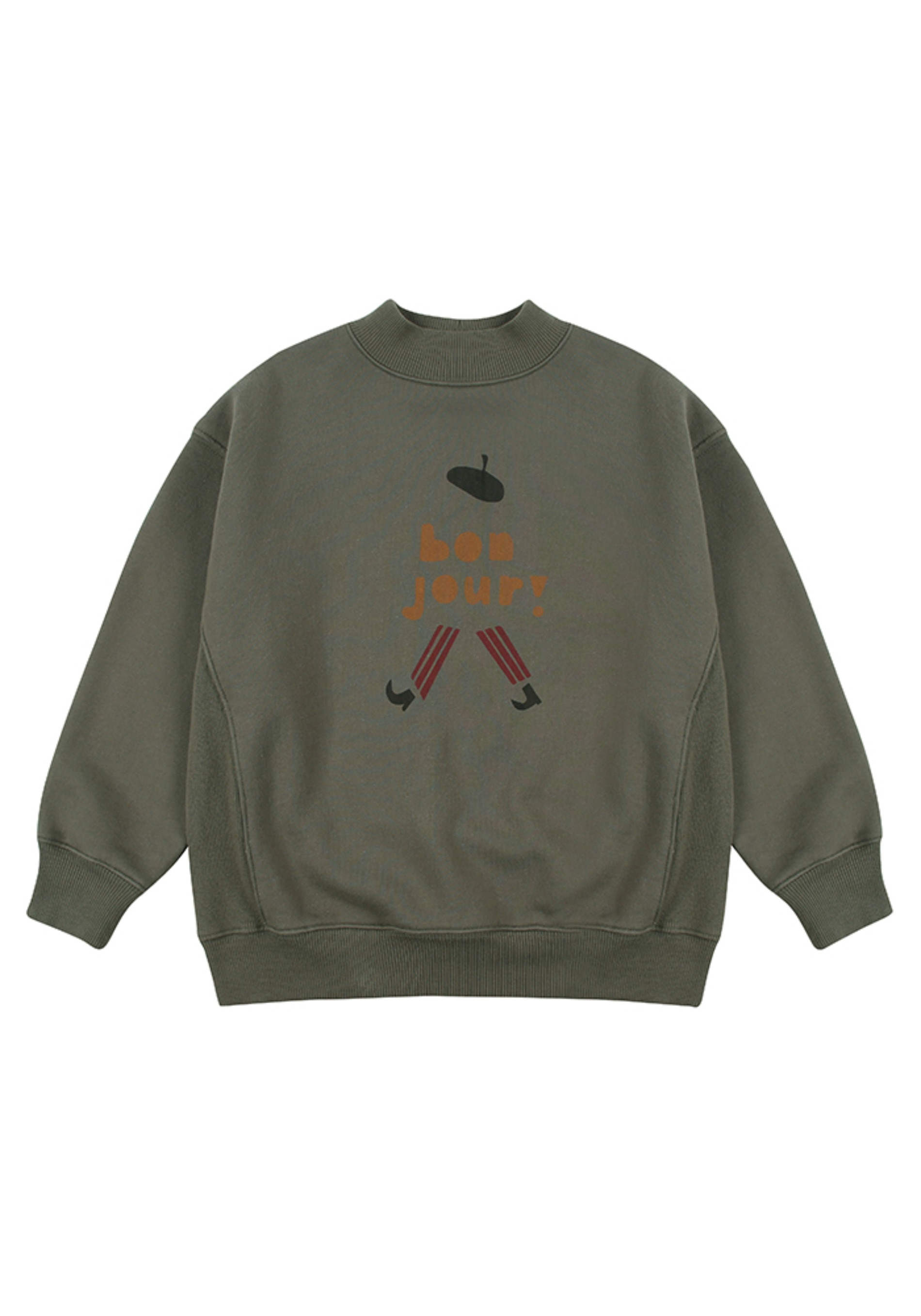 BONJOUR TURTLENECK SWEATSHIRT_Kids#2