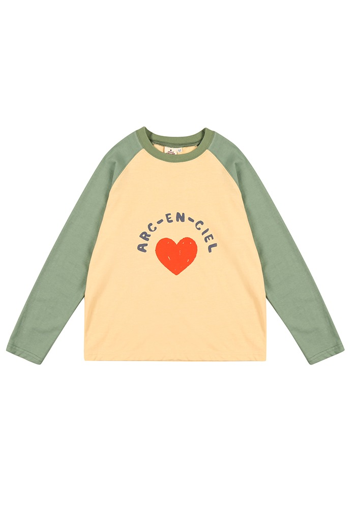 RAGLAN SLEEVE T-SHIRT_Green_Baby