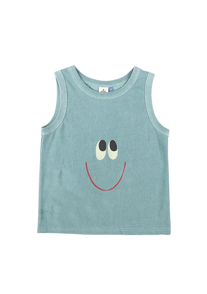 SMILE BOY SLEEVELESS T-SHIRT_Green_Baby